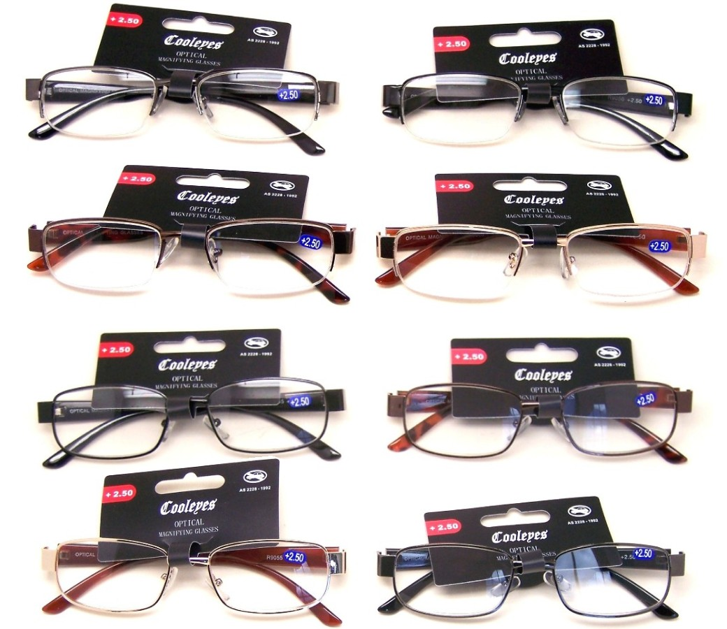 Fashion Reading Glasses Metal Frame (2 Style) R9055-R9056