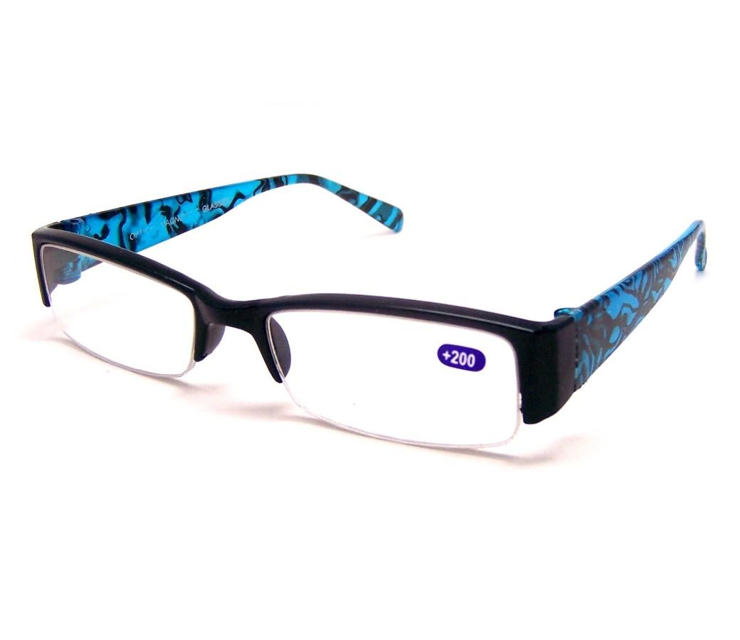Fashion Reading Glasses Plastic Half Frame R9064 [R9064 ...