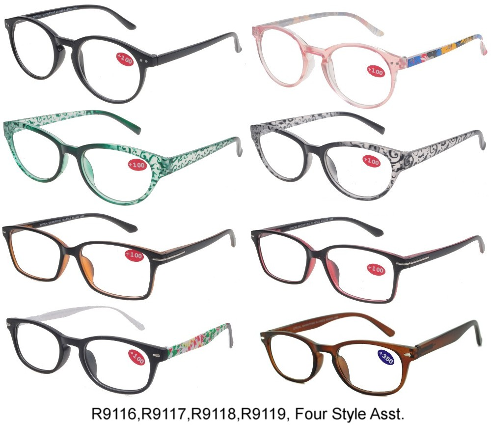 Cooleyes Plastic Reading Glasses Ladies 4 Style Asstd R9116/17/18/19