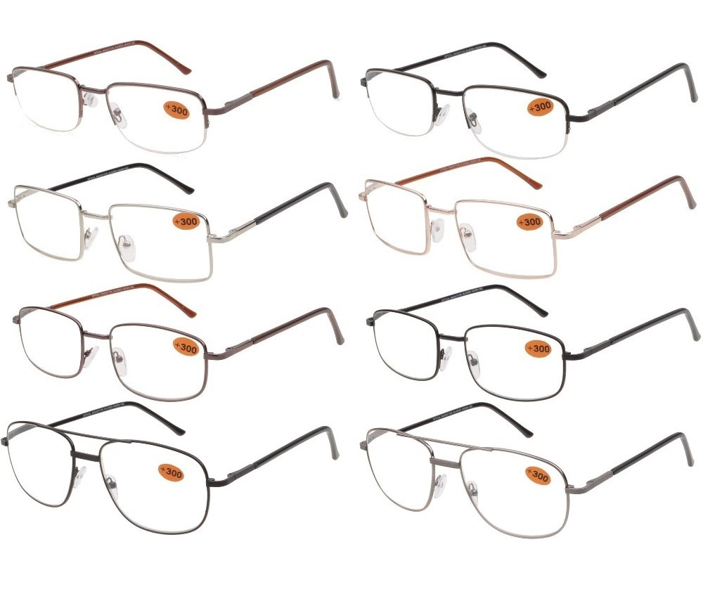 Cooleyes Metal Unisex Reading Glasses 4 Style Asst R9140/41/42/43