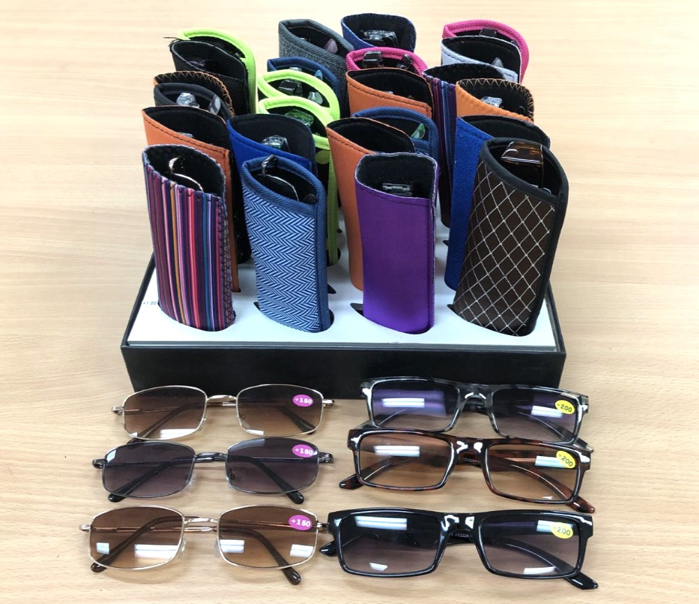 Tinted UV Protection Optical Reading Glasses with Soft Case