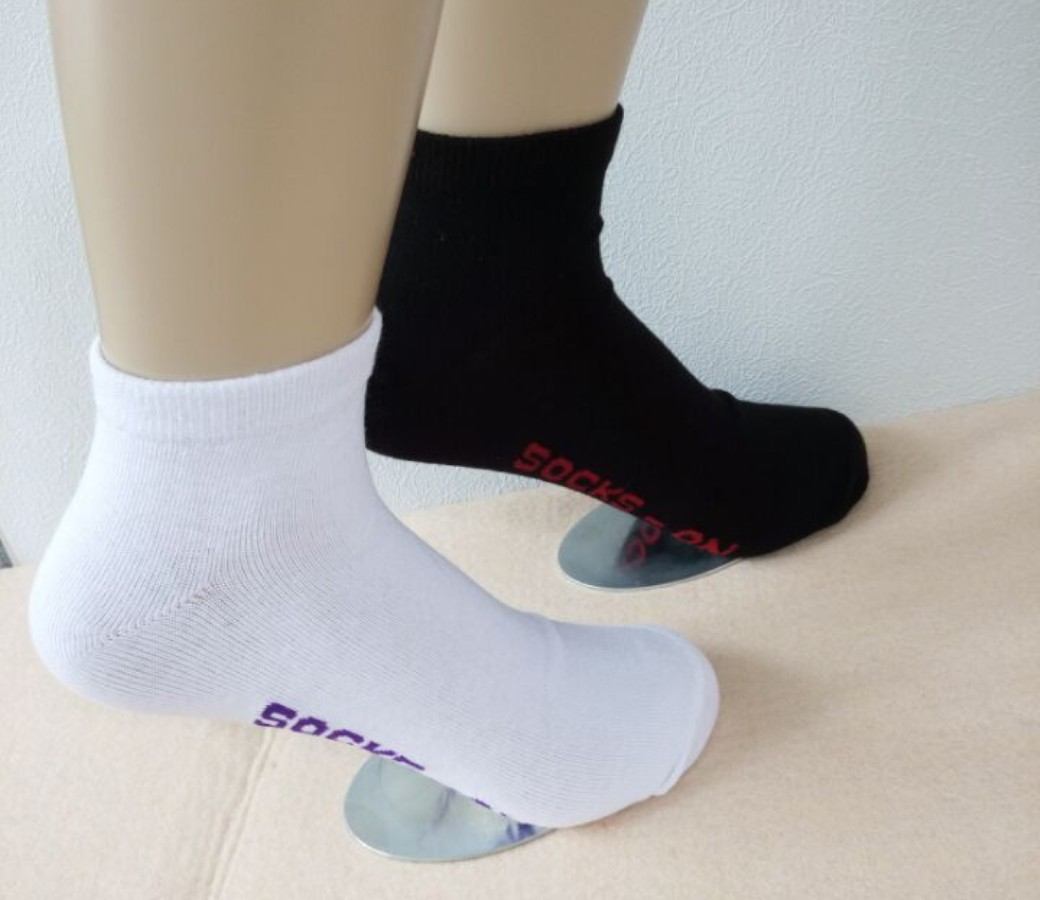 Cotton Low Cut Socks - Women Sport, Black and White (2Pair Pack)  Size:2-8 SOC202-P2