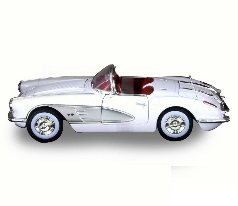 1:18 1958 Corvette (White) MM73109WH