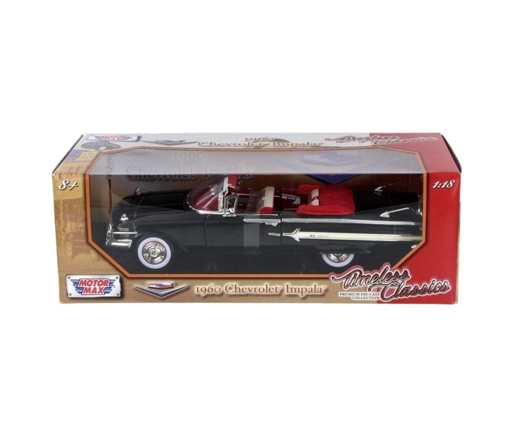 1:18 1960 Chevrolet Impala (Black) MM73110BK