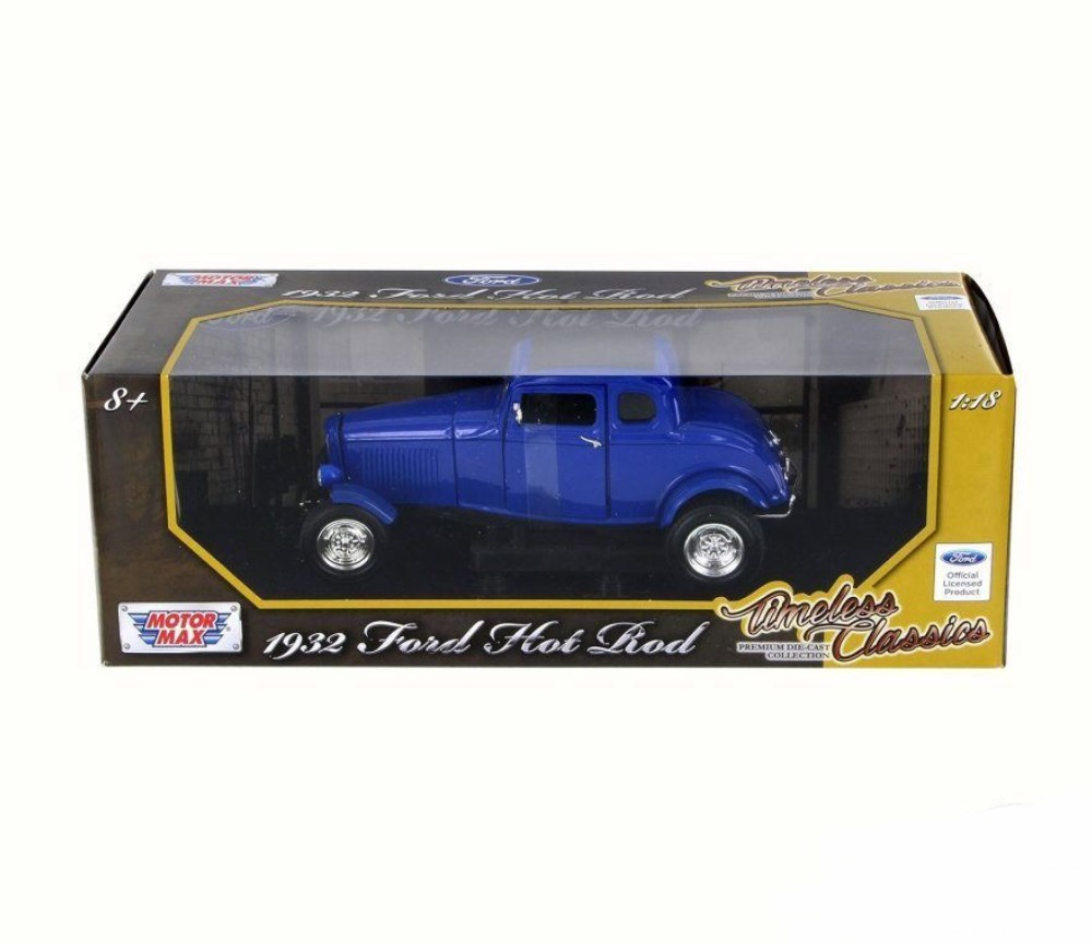 1:18 1932 Ford Five Window Coupe (Blue) MM73171BU