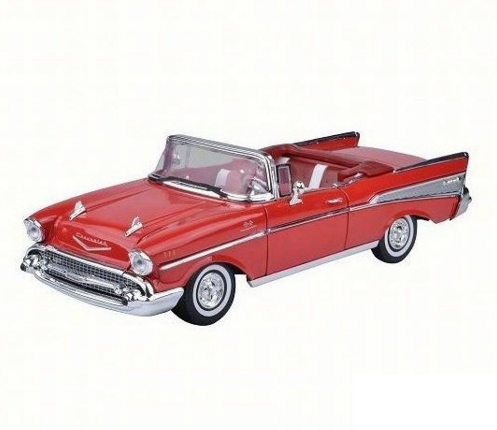 1:18 1957 Chevy Bel Air Convertible (Bright Red) MM73175RD