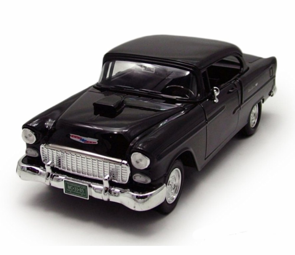 1:18 1955 Chevy Bel Air Coupe with Hood Scoop (Black) MM79001BK