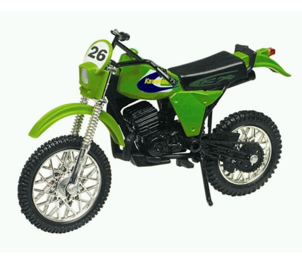Kawasaki KDX 250 1:18 Die Cast Bike (Green) MMM402