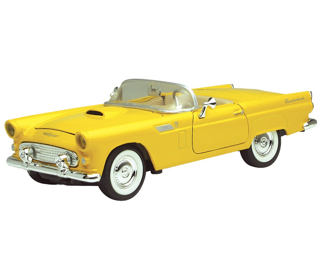1:24 1956 Ford Thunderbird Convertible (Light Yellow) MM73215YL