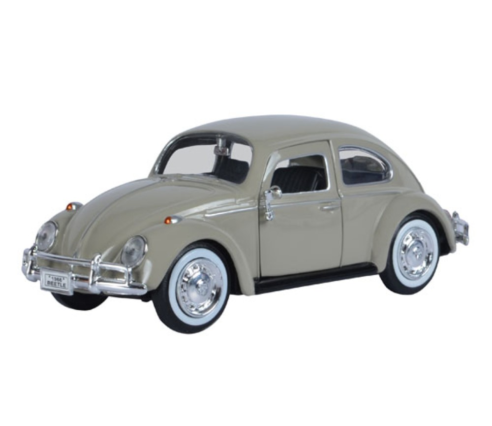 1 24 1966 volkswagen classic beetle savannah beige mm73223sb mm73223sb au. Black Bedroom Furniture Sets. Home Design Ideas