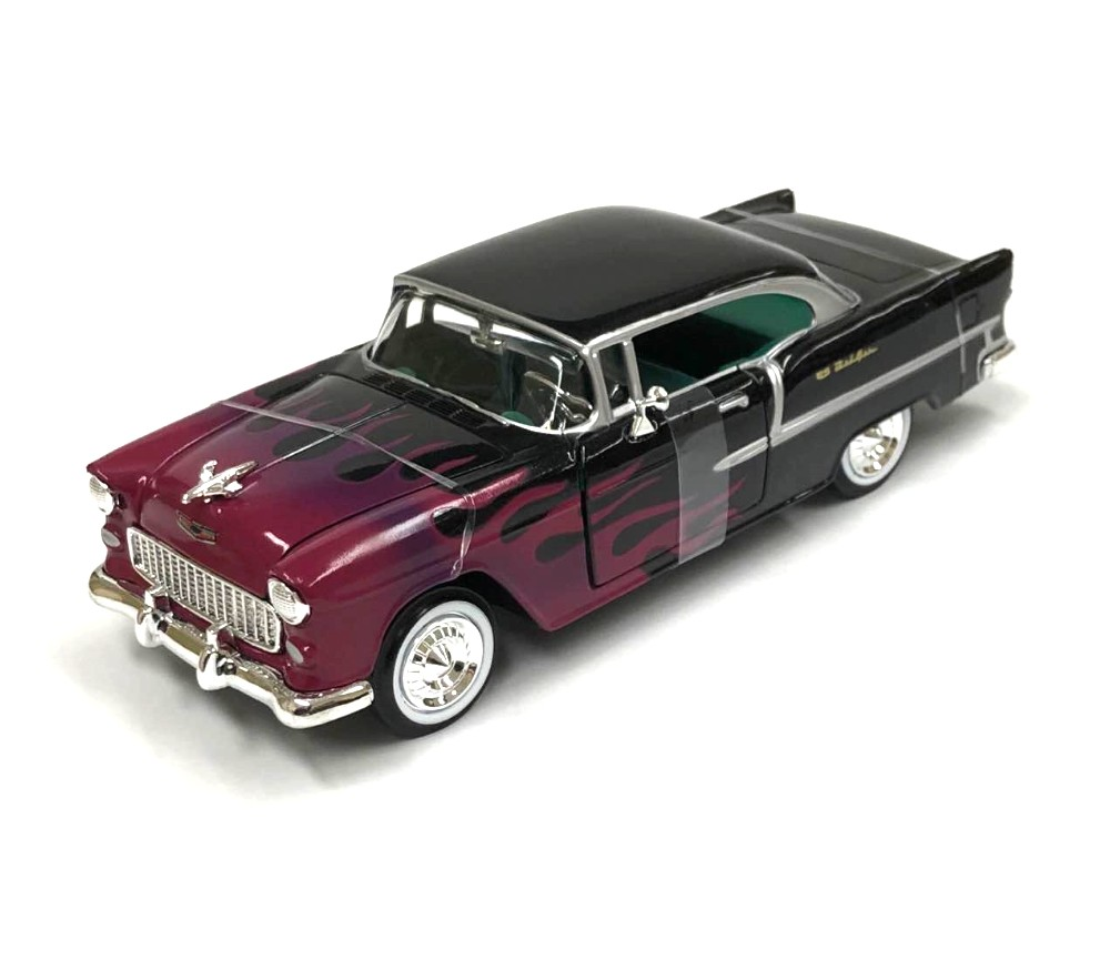 1:24 1955 Chevy Bel Air (Black with Flames) MM73229BKF