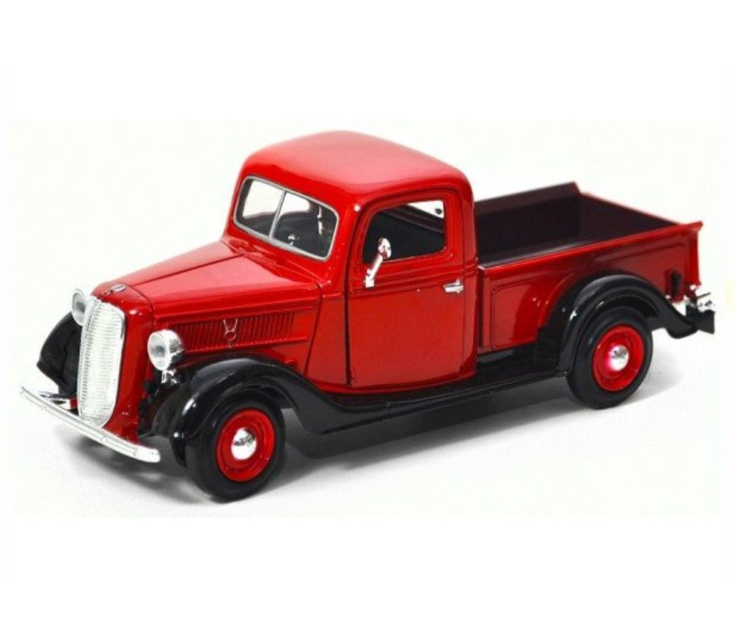 1:24 1937 Ford Pick Up (Red) MM73233RD
