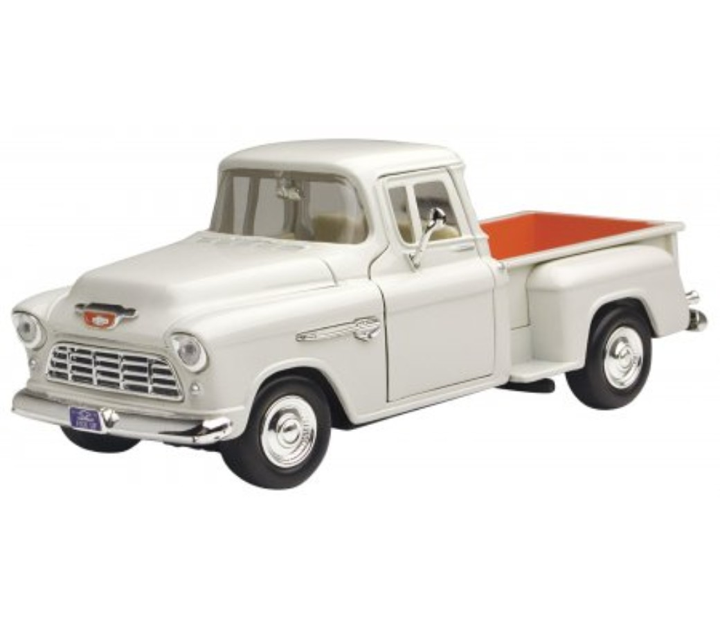 Chevy Stepside Pickup 1955 - 1:24 (White) MM73236WH