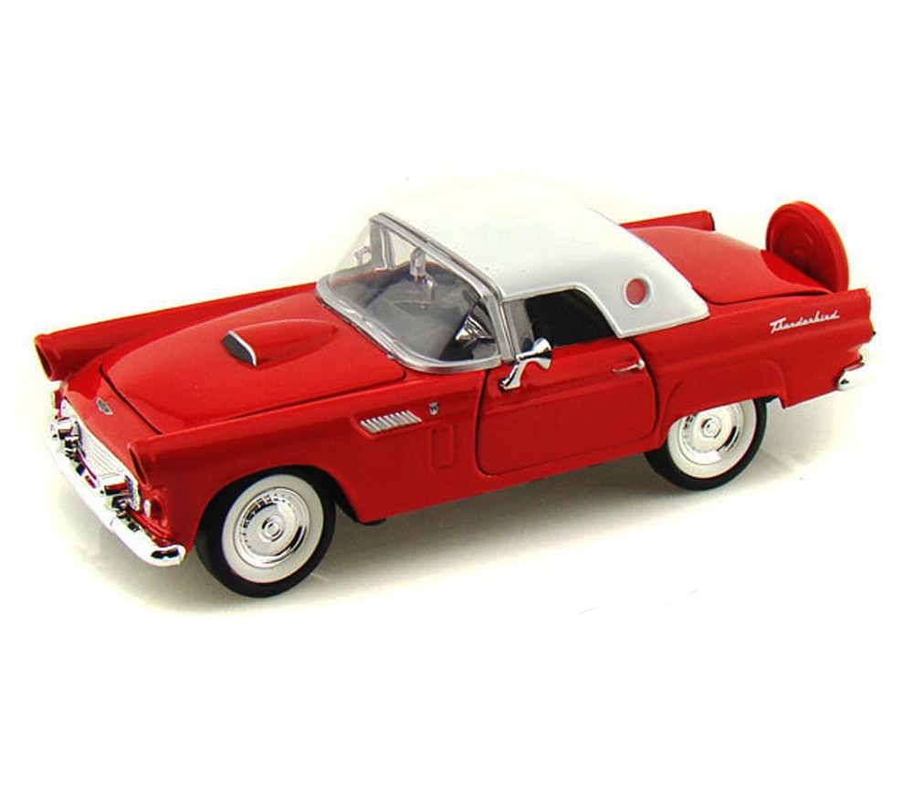1:24 1956 Ford Thunderbird (Red, White Top) MM73312WR