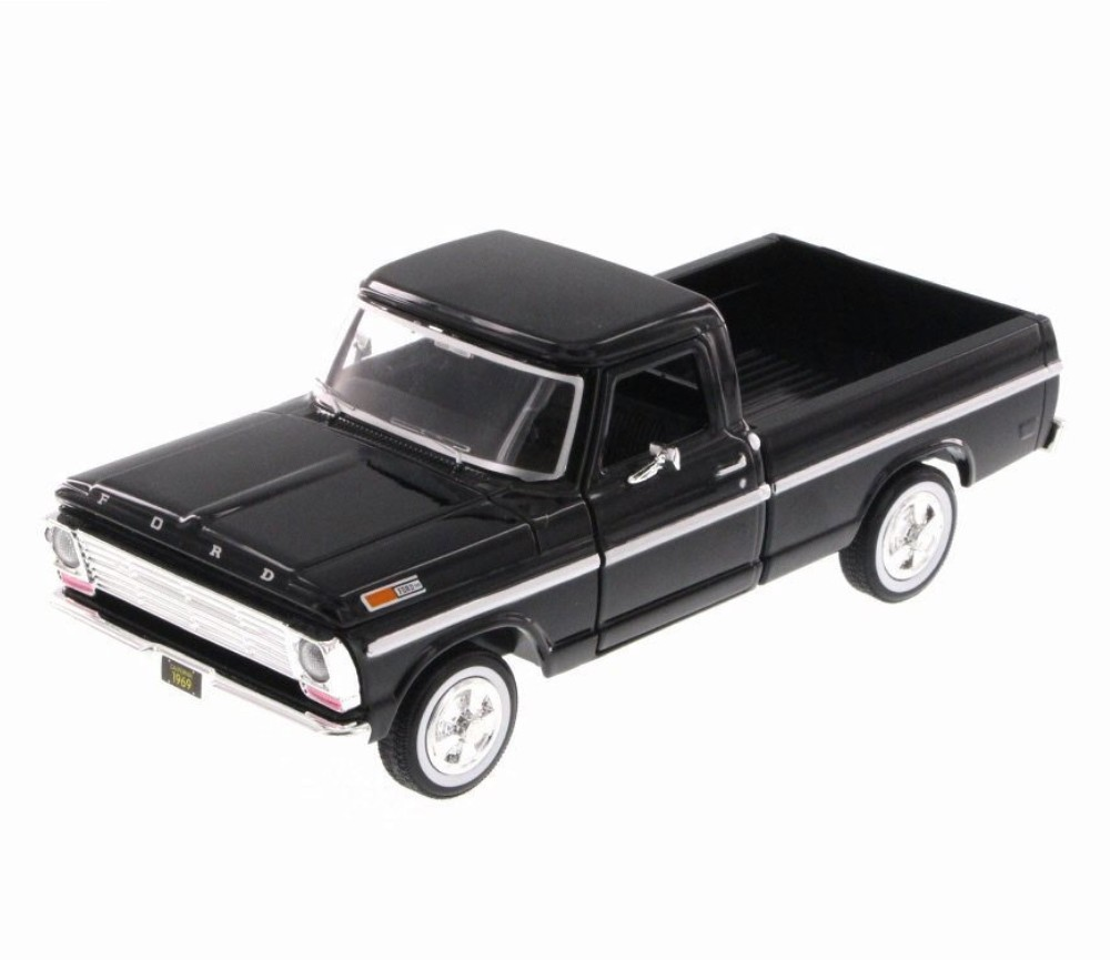 1:24 1969 Ford F-100 Pickup (Black) MM79315BK
