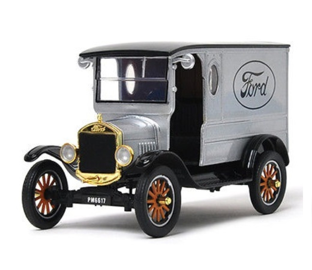1:24 1925 Ford Model T - Paddy Wagon with Ford Logo (Silver) MM79329PTM