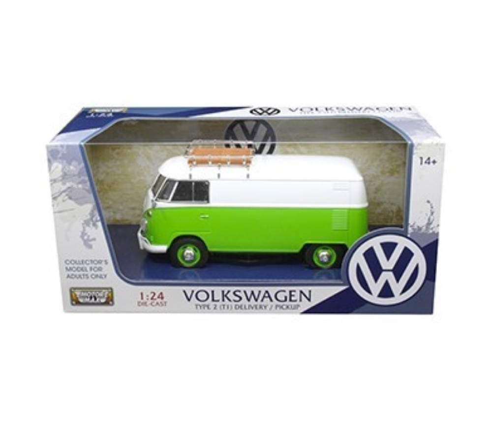 1:24 VW Type 2 (T1) - Delivery Van (White/ Cliff Green) MM79551WG