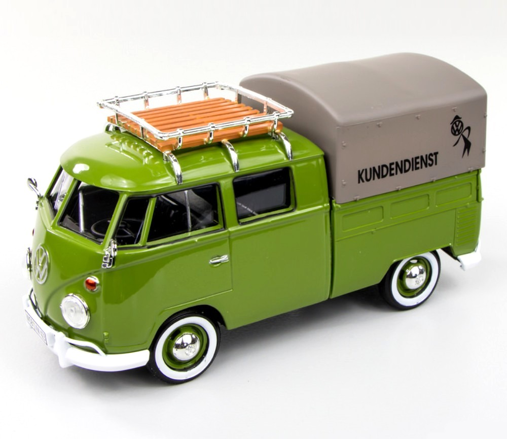 1:24 VW Type 2 (T1) - Pick-up with Roof Rack & Tarapauline Cover ( Kundendienst) MM79554AG