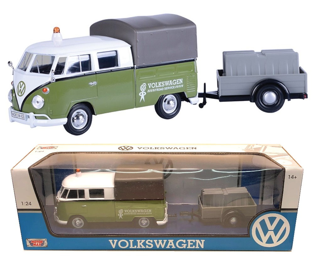 1:24 Volkswagen Type 2 (T1) - Road Maintenance Trailer (Green with White) MM79676MT