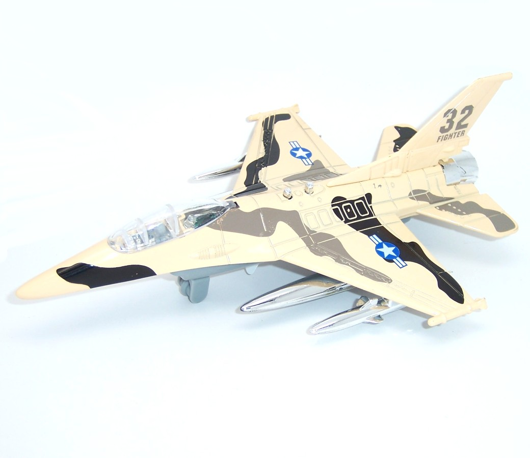 F-16 Fighter Plane with Light & Sound 1:80 Diecast Model MZ23035S