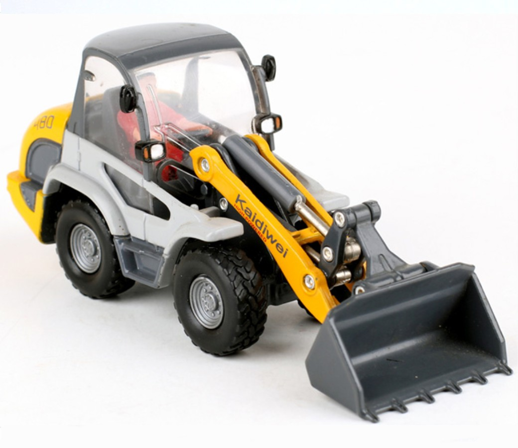 Yellow Compact Wheel Loader 1:50 Diecast Model KDW620002D