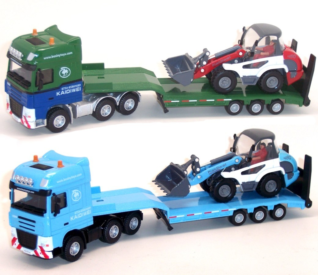 Flat Trailer with Loader 1:50 Heavy Die cast Model DC-620038