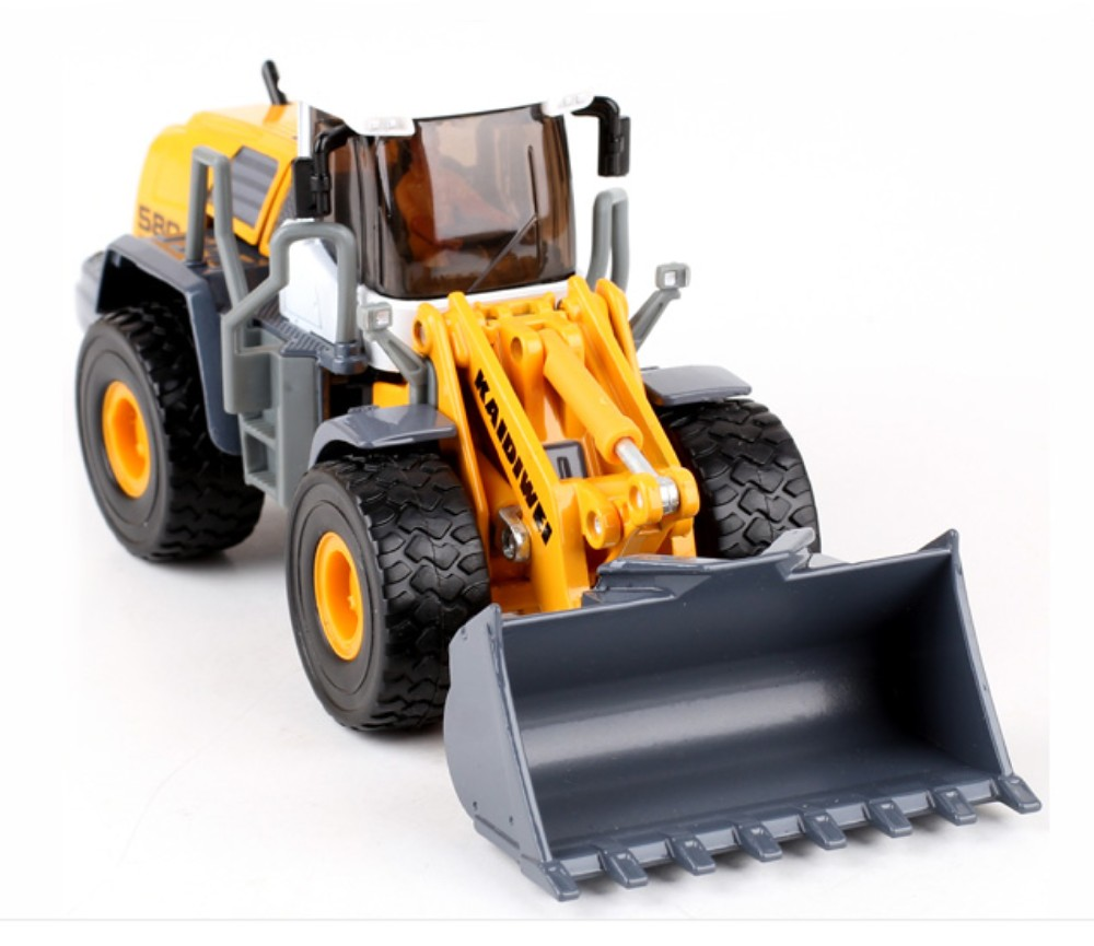 Yellow Four Whell Loader 1:50 Heavy Die cast Model KDW625003W
