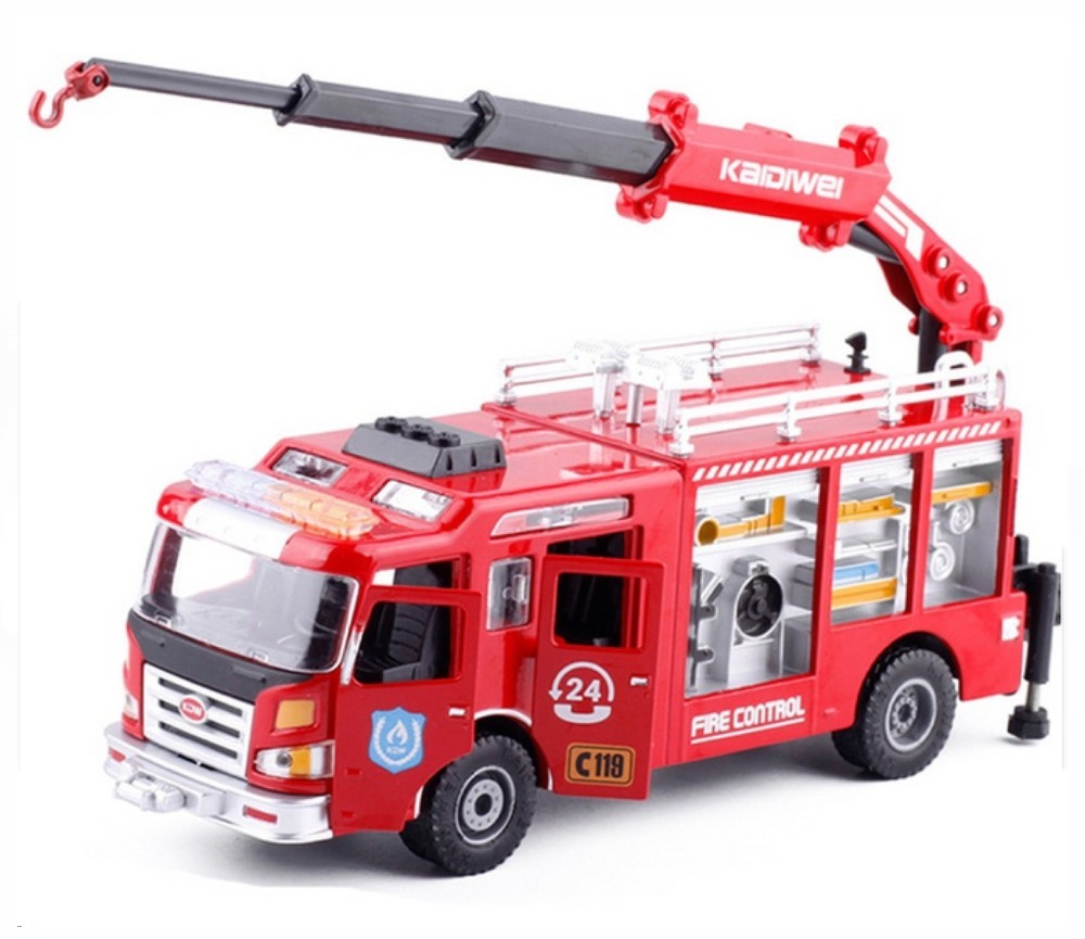 1:50 Heavy Rescue Fire Engine, Heavy Die cast Model KDW625046W