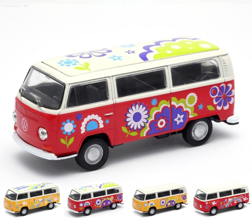 1972 VW Bus T2 with Surfboard, Fanny Graphic (1:38) WL42347AB-D