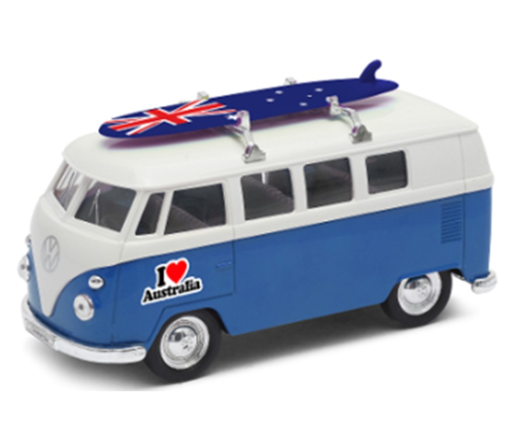 1963 VW Bus T1 with Surfboard & I Love Australia (1:38) WL49764SB-D-AU